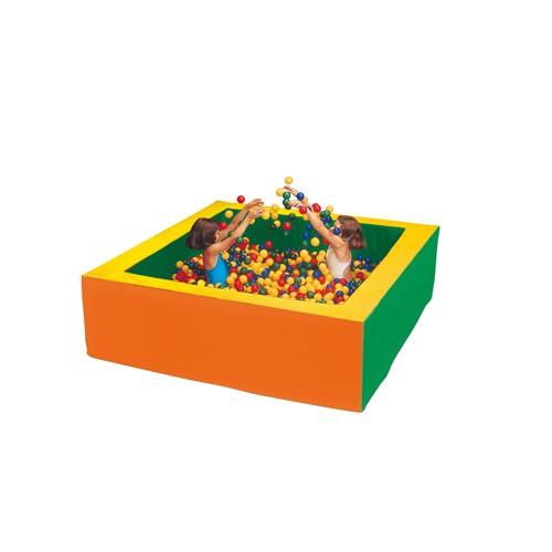 Piscina quadrata con palline vari dimensioni per for Amazon piscina con palline