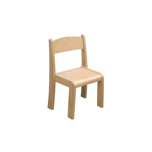 Sedia impilabile in legno per Asilo, MaternaArredo per Asili