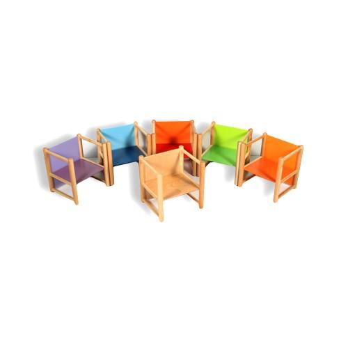 Sedia sedia asilo nido pluriuso struttura in legnoarredo for Offerta sedie legno