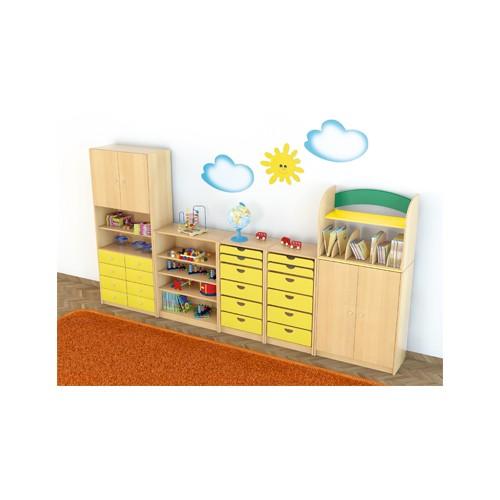 Composizione mobili cl 03 per asilo nido maternaarredo for Arredo per asili