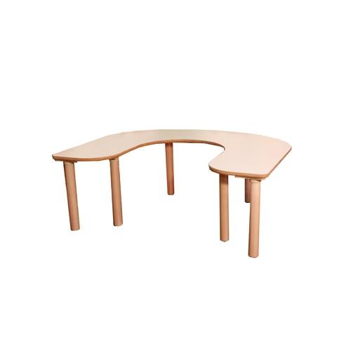 Tavolo pappa 5 posti per asilo nidoarredo per asili for Piano in legno per tavolo