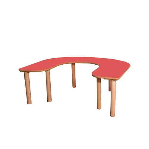 Tavolo pappa 5 posti per asilo nidoarredo per asili - Gambe per tavolo legno ...