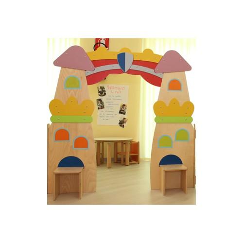 elemento divisorio il castello per asilo nido