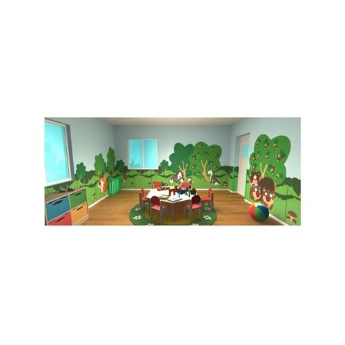 Il bosco pannello decorativo lupi linea art arredo for Art arredo