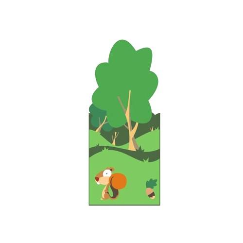 Il Bosco Pannello Decorativo Scoiattolo Linea Artarredo Per Asili