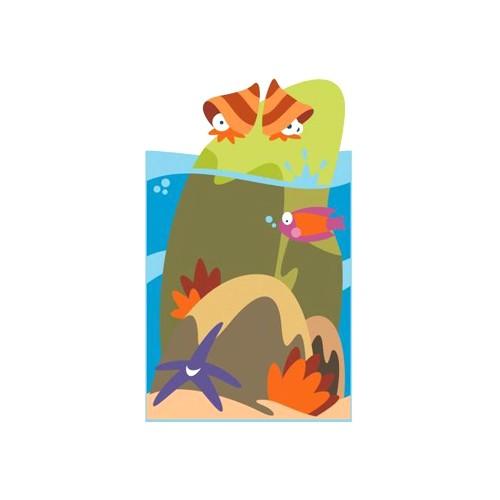 Il grande mare pannello decorativo isolotto linea for Arredo asili nido