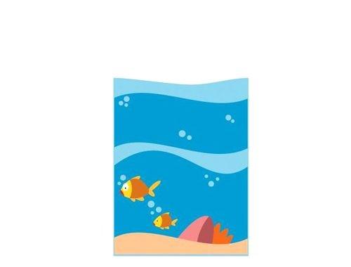 Il grande mare pannello decorativo 2 pesci linea for Arredo asili nido