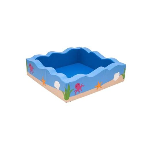 Piscina fondale marino quadrata arredo per asiliarredo - Piscina con palline per adulti ...