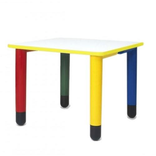 Materna - Tavolo Quadrato con Gambe Colorate - Arredo per AsiliArredo per Asili