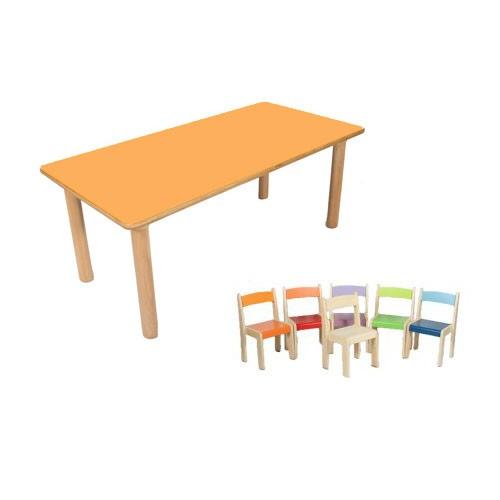 Tavolo rettangolare a 6 posti 6 sedie iris - Misure tavolo rettangolare 6 posti ...