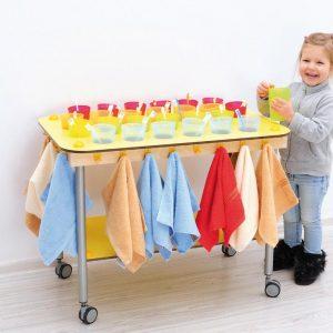 Carrello per Bicchieri e Asciugamani x 24