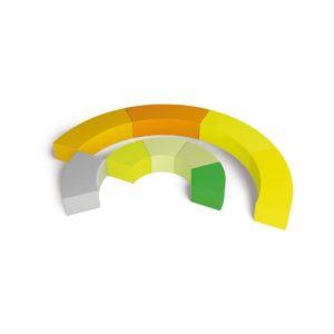 Biblioteca – Seduta Morbida Colorata Grande  – 4 pezzi