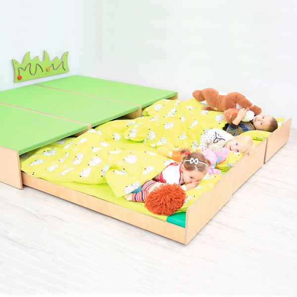 Piattaforma con letto estraibile arredo per asili nido e for Arredo asili nido